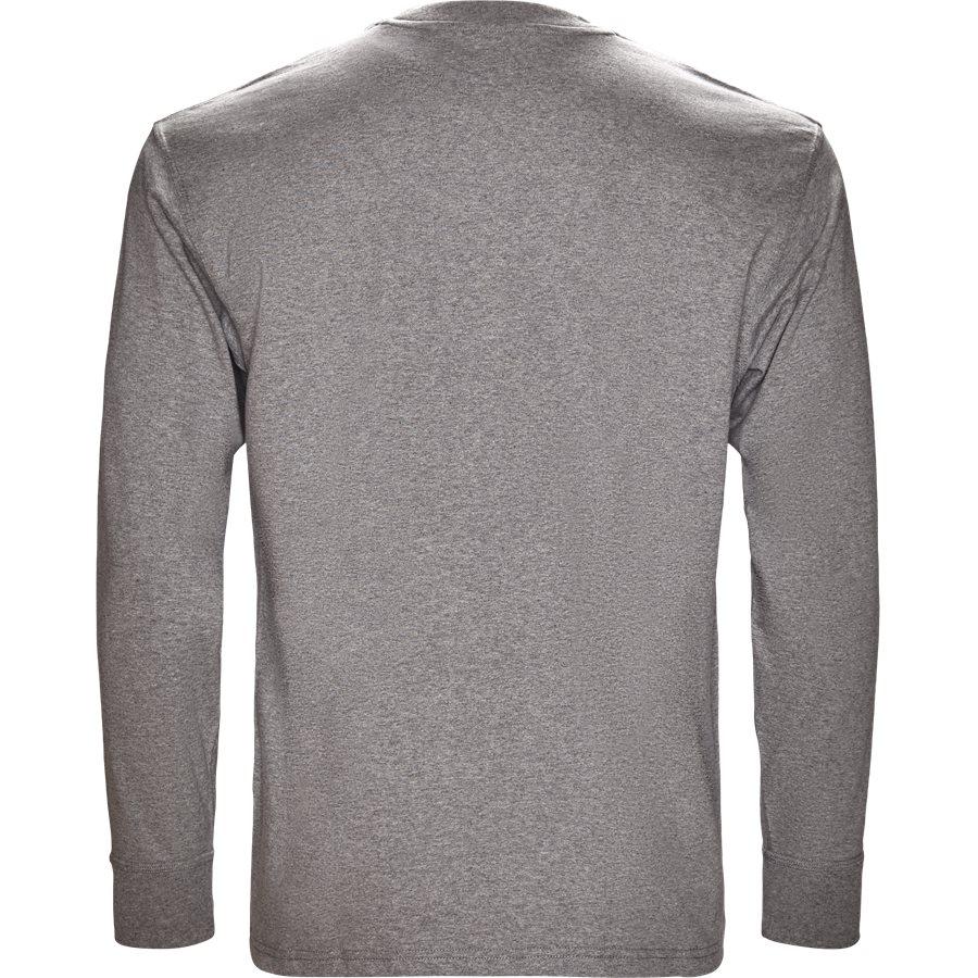 L/S AMERICAN SCRIPT I025712 - L/S American Script - T-shirts - Regular - GREY HTR - 2